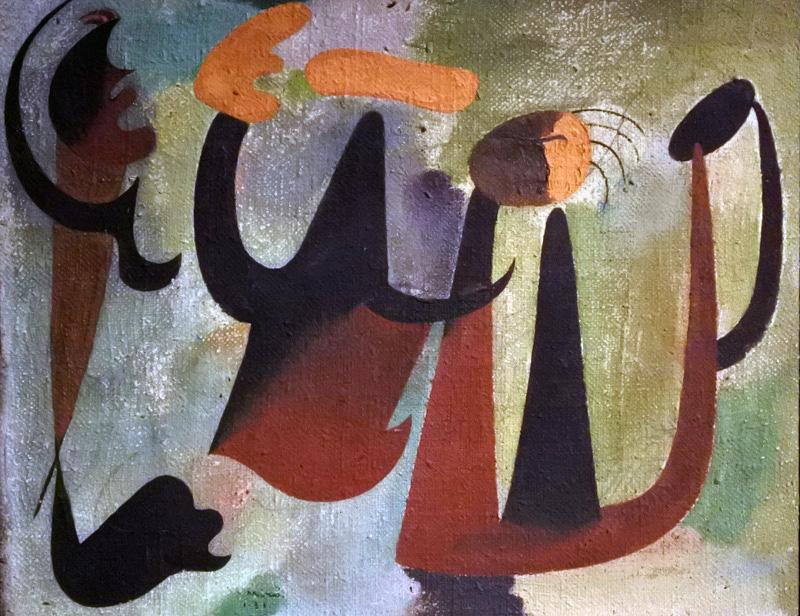 Gruppo di personaggi nel bosco 1931