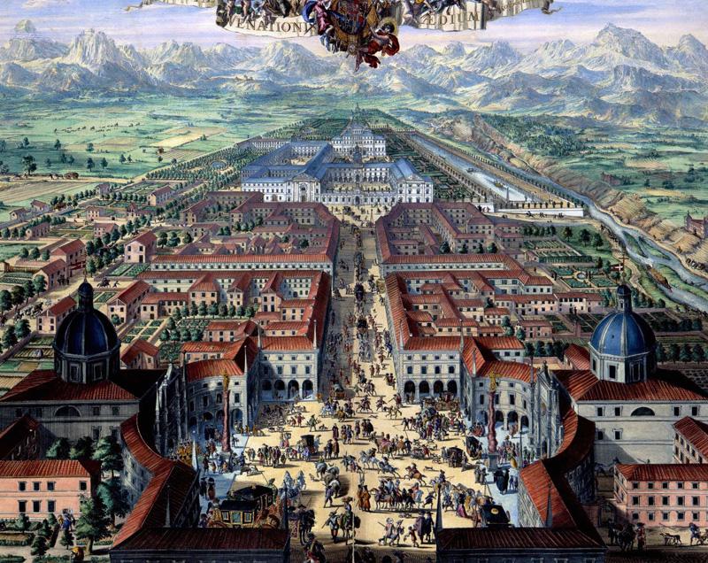Venaria Reale disposizione urbanistica inizio '700 - Archivio Museo storico Torino