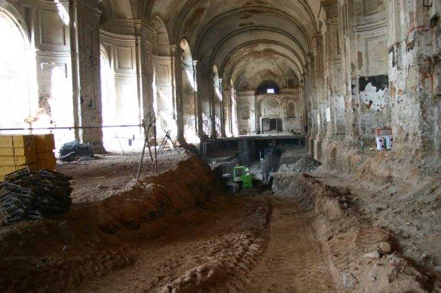 Archivio Venaria Reale - Fase di restauro