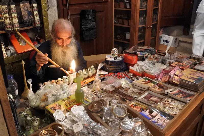 Greek orthodox priest - Jacob Well - Balata - Nablus