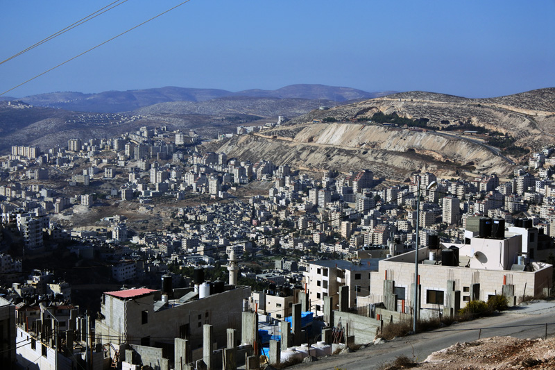 Mount Gerizim - View of Nablus
