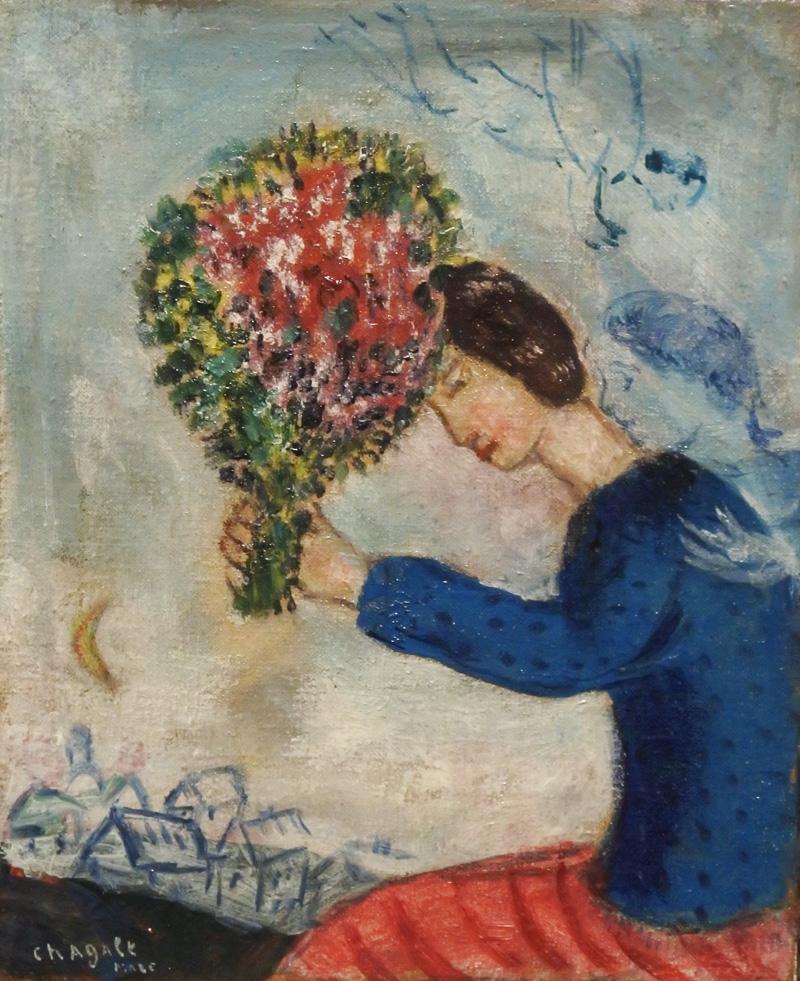 Fanciulla con fiori - 1928