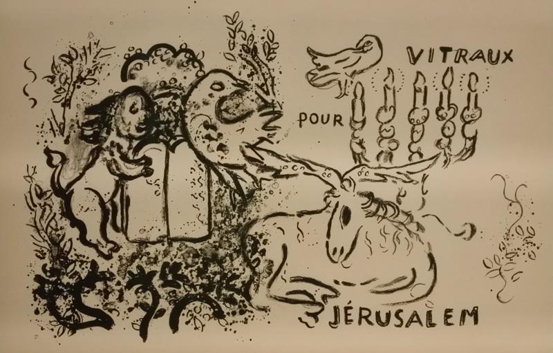 Prova per vetrate Gerusalemme - 1962