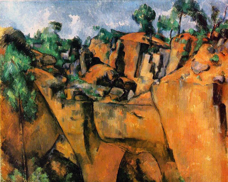 Bibemus Quarry - 1900 - Anteprima del cubismo