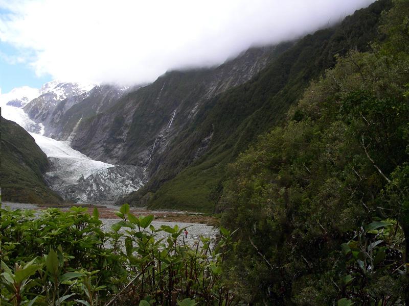 At the Franz Josef Glacier